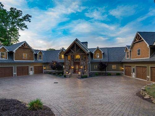 6.7 Acre Estate Overlooking Lake : Hartwell : Hart County : Georgia