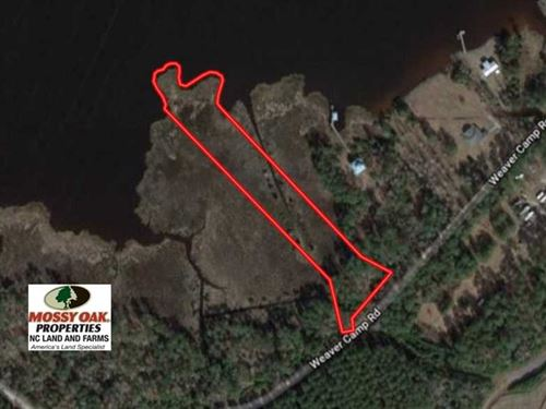 2.9 Acres of Residential Waterfron : Merritt : Pamlico County : North Carolina