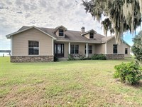 Spacious Lakefront Home On 18 Acres : Brooksville : Hernando County : Florida