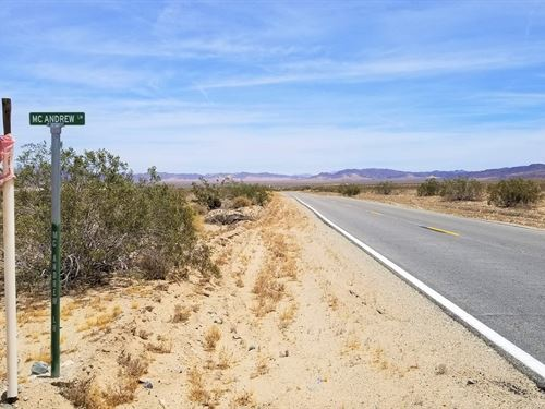 Nice Lot, Old Dale-Wonder Valley : Wonder Valley : San Bernardino County : California