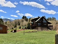 Log Home With Water Rights : South Fork : Rio Grande County : Colorado