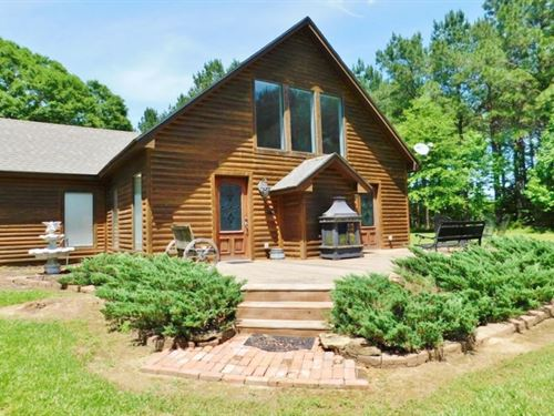 Home, 58.4 Acres, Guest Cabin, Cree : Tylertown : Walthall County : Mississippi