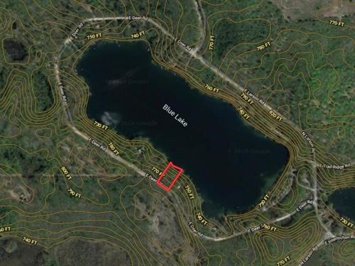 Buildable Waterfront Lot Blue Lake : Fountain : Mason County : Michigan
