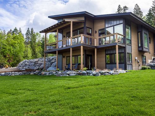 Montana Modern Home : Bigfork : Lake County : Montana