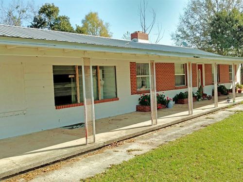 House And 3.24 Acres For Sale : Lake City : Columbia County : Florida