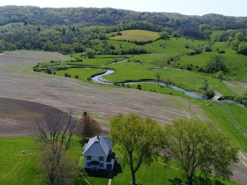 Amazing Farm On Mill Creek : Ridgeway : Iowa County : Wisconsin