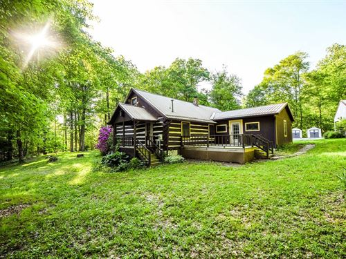 Log Cabin 11 Acres 3.5 Acre Lake : Spencer : Owen County : Indiana