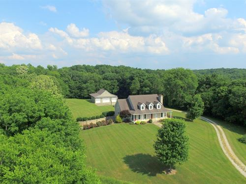 Custom Home On 62 Rolling Acres : Williamsport : Maury County : Tennessee