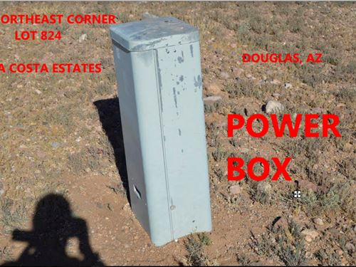 New Power Box On 1/3 Acre Lot : Douglas : Cochise County : Arizona