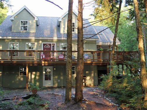 Lakefront Home For Sale in Maine : Lowell : Penobscot County : Maine