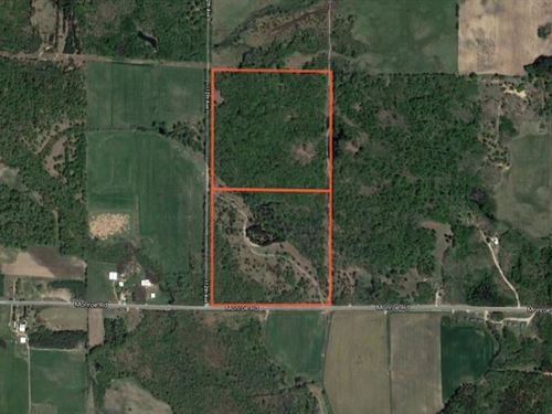 80 Acres With Gated Entrances : Hart : Oceana County : Michigan