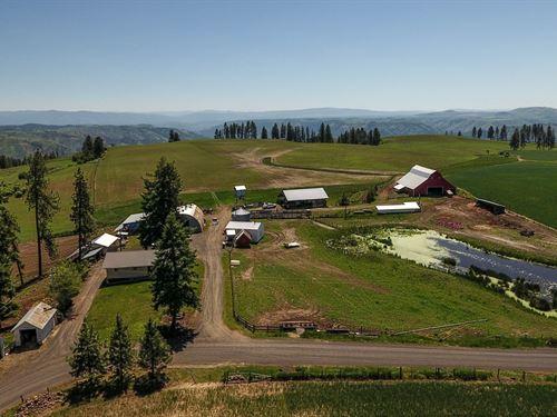 Farm & Ranch w, Country Home North : Kamiah : Idaho County : Idaho