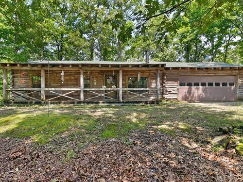 Tennessee Log Cabin, Wooded Lot : Saulsbury : Hardeman County : Tennessee