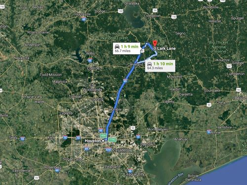 Get Your Dream Place On This Lot : Shepherd : San Jacinto County : Texas