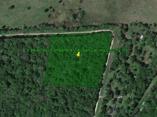 5.88 Acres In Shepherd, Tx : Shepherd : San Jacinto County : Texas