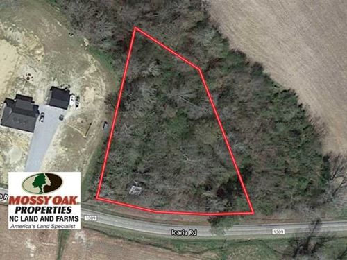 1 Acre Building Lot For Sale in Ch : Tyner : Chowan County : North Carolina