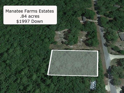 .84 Acre Corner Lot On Paved Road : Chiefland : Levy County : Florida