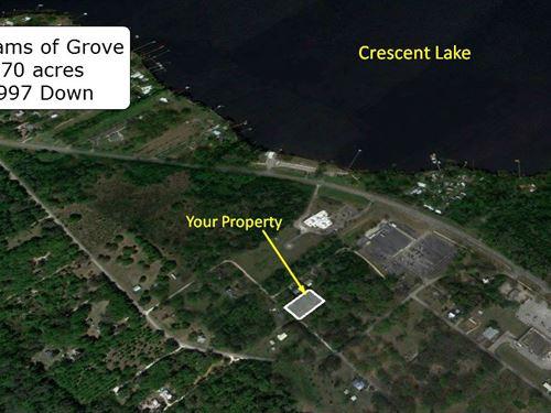 .70 Acres Acre Near Crescent Lake : Crescent City : Putnam County : Florida