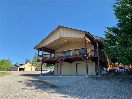 Active Living On 20 Acres In Trout : Trout Creek : Sanders County : Montana