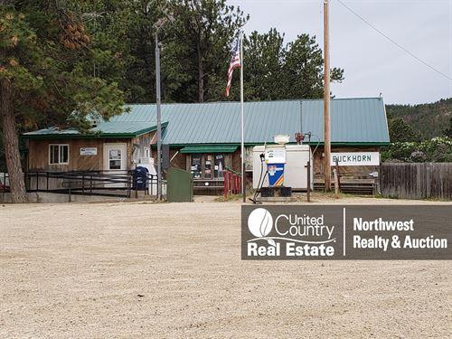 Zortman MT Store Cabins Income : Zortman : Phillips County : Montana