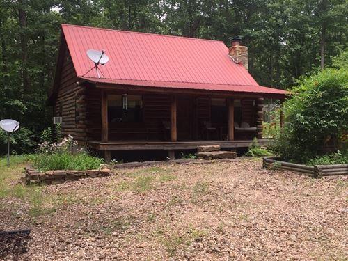 Arkansas Log Cabin On 20 Acres : Leslie : Searcy County : Arkansas