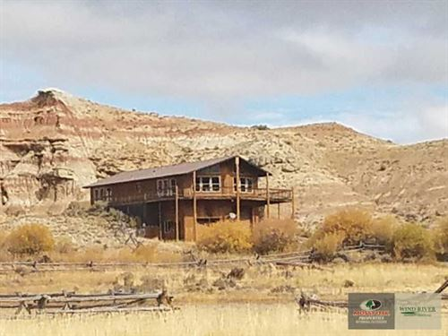Spacious Ranch Home Overlooking th : Dubois : Fremont County : Wyoming