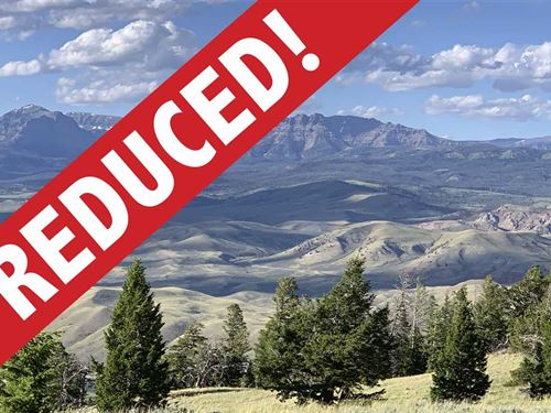 Reduced, Prime Mountaintop Parcel : Dubois : Fremont County : Wyoming