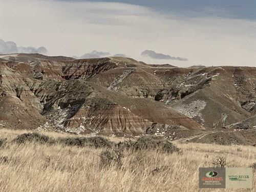 Prime Level Building Site Overlook : Dubois : Fremont County : Wyoming