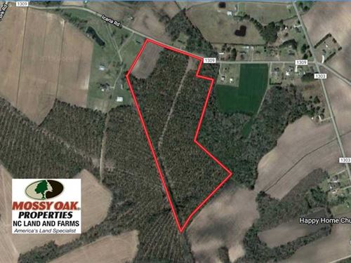 Reduced, 39 Acres of Farm And Timb : Tyner : Chowan County : North Carolina