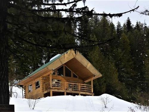 Log Cabin Hunting Paradise Libby : Libby : Lincoln County : Montana