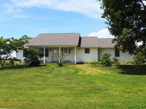 4 Br, 3 BA Country Home Acreage : Farber : Audrain County : Missouri