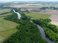 Winding Yahara River Frontage : Stoughton : Dane County : Wisconsin