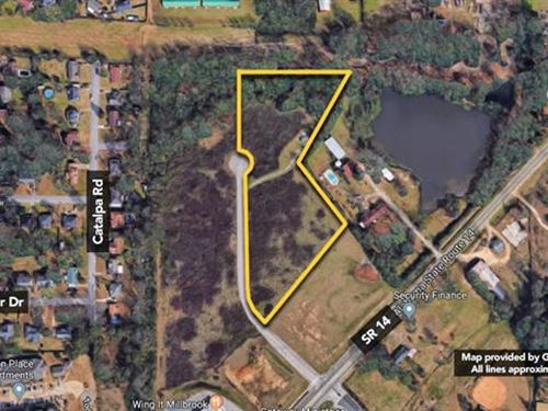 Land, Approx 5.26Ac Lot : Millbrook : Elmore County : Alabama