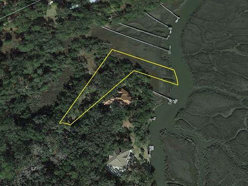 Waterfront Residential Lot : Darien : McIntosh County : Georgia