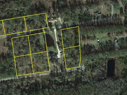 9 Residential Lots : Townsend : McIntosh County : Georgia