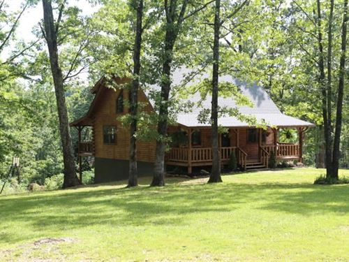 Amazing Log Home 8 Acres West : West Plains : Howell County : Missouri