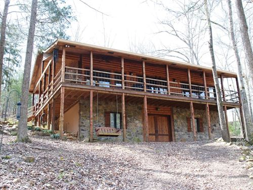 Rustic Creek Home, Gated Community : Mountain View : Stone County : Arkansas