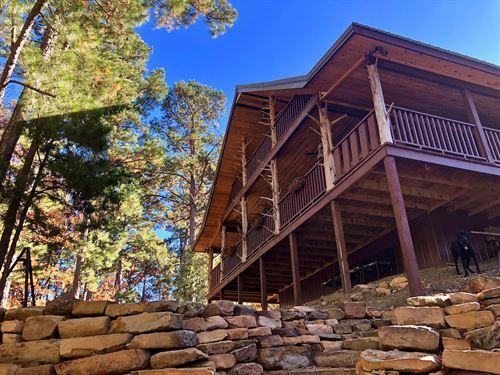 Log Home, Lake Views Sardis Lake : Clayton : Pushmataha County : Oklahoma