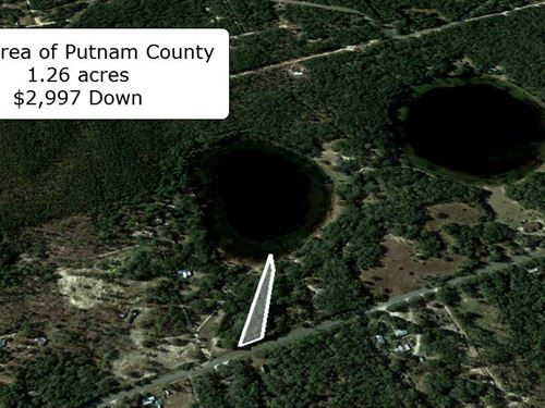 1.26 Acre Waterfront Lot On Pave Rd : Hawthorne : Putnam County : Florida
