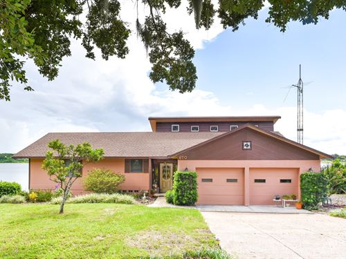 Waterfront Home Reduced Price Blue : Lake Wales : Polk County : Florida