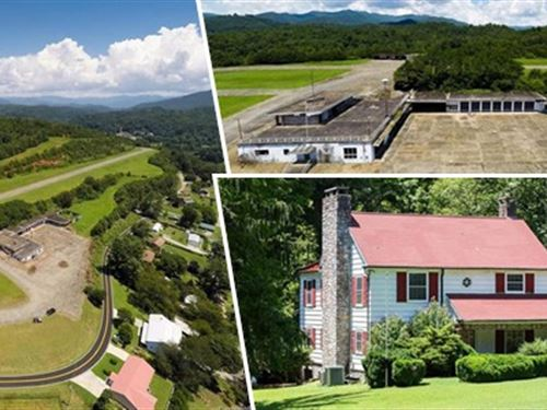 Unique Mountain Home/Land/Airstrip : Bryson City : Swain County : North Carolina