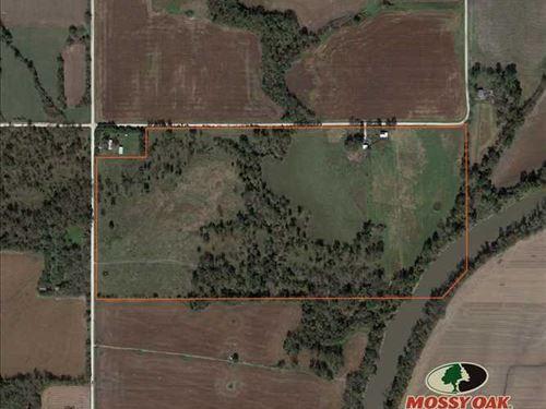 Neosho River 70 : Iola : Allen County : Kansas