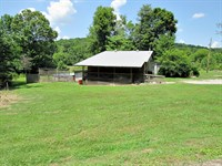 Home & 9.6 Acres, Creek Frontage : Linden : Perry County : Tennessee