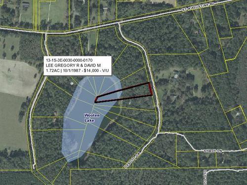 Lakefront Property North Florida : Monticello : Jefferson County : Florida