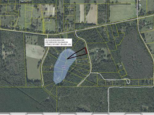 North Florida Lakefront Lot : Monticello : Jefferson County : Florida