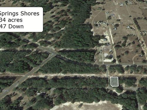 .34 Acre Corner Lot On Paved Road : Ocklawaha : Marion County : Florida
