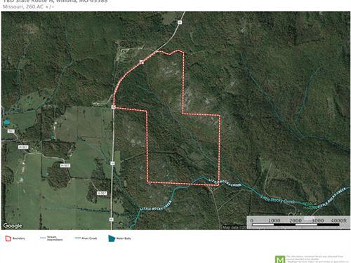 260 Acres Hunting/Recreation Land : Winona : Shannon County : Missouri
