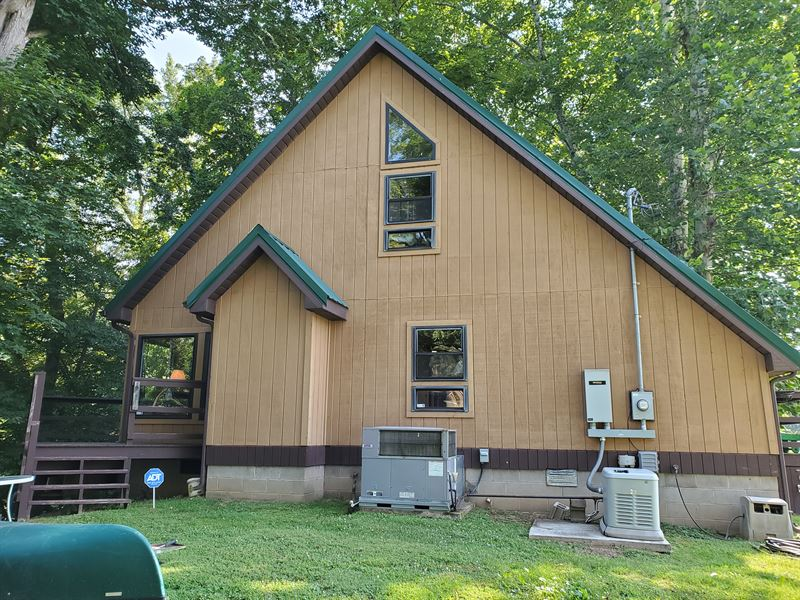 Beautiful Waterfront Home : Elizabeth : Wirt County : West Virginia