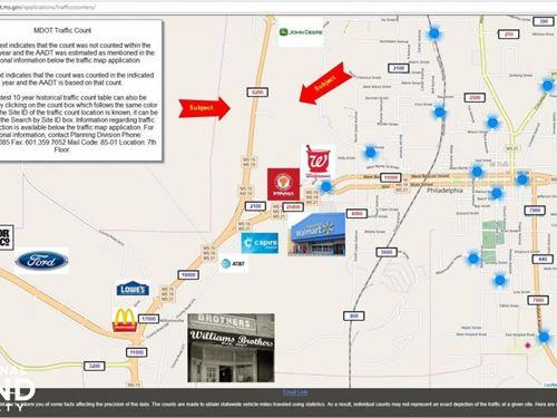 High Traffic Commercial Property : Philadelphia : Neshoba County : Mississippi