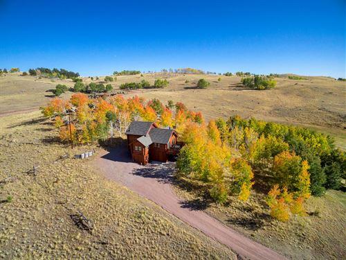 Custom Log Home Guffey, CO 33 Acres : Guffey : Park County : Colorado